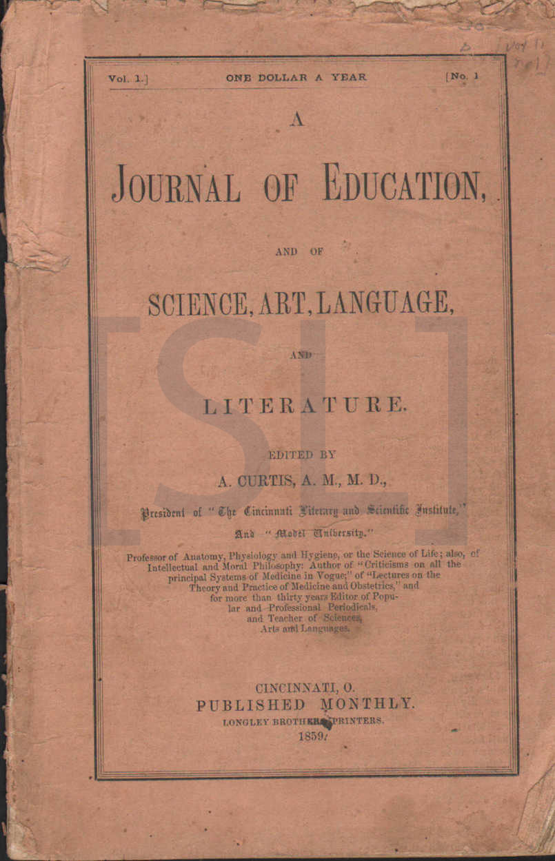 Journal of Education and of Science, Art, Language and Literature