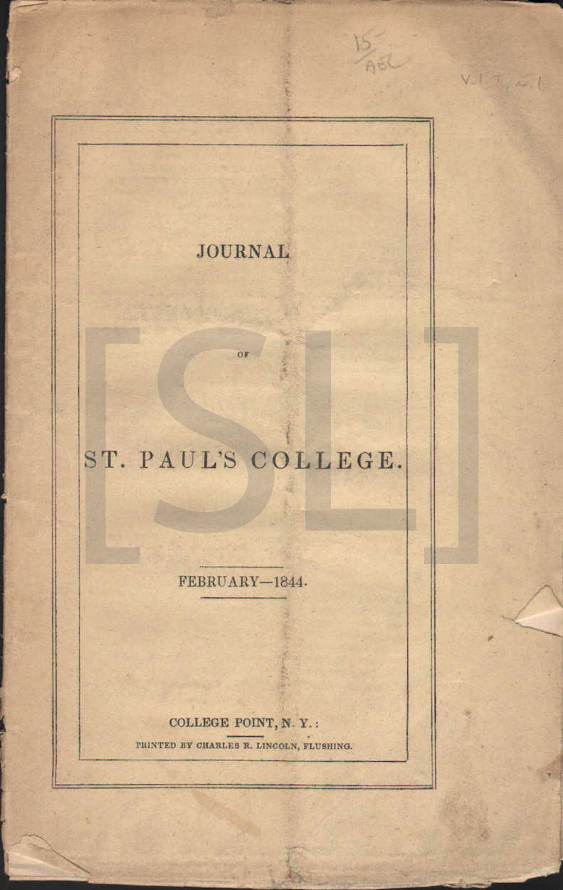 Journal of St. Paul's College