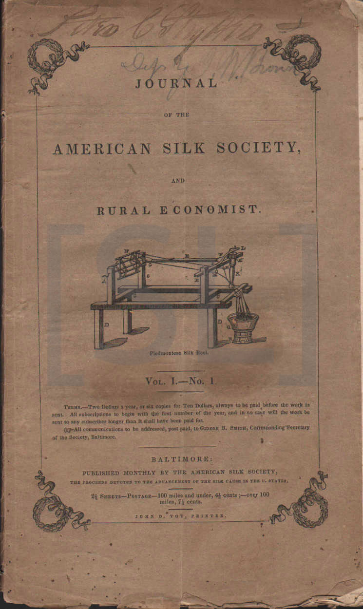 Journal of the American Silk Society and Rural Economist