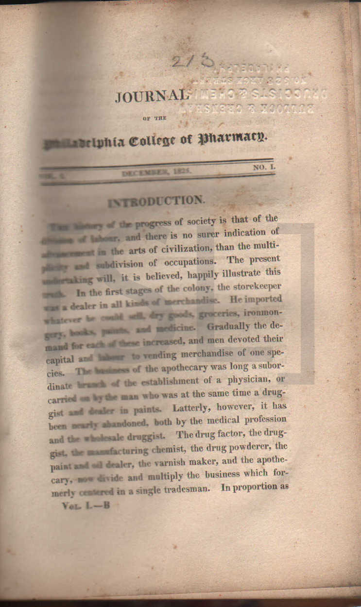 Journal of the Philadelphia College of Pharmacy