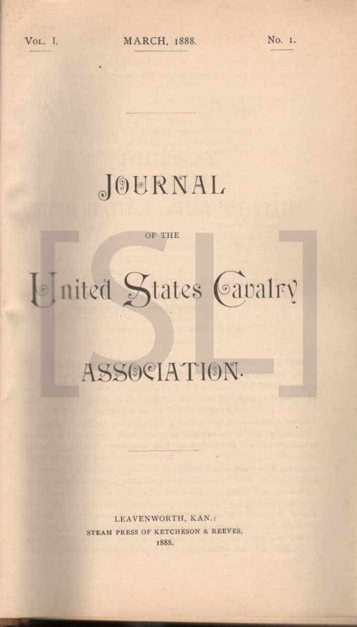 Journal of the United States Cavalry
