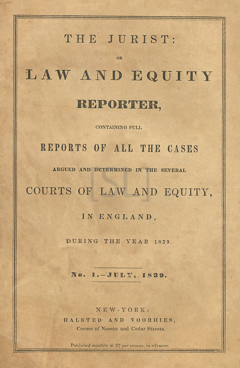 Jurist: or Law and Equity Reporter