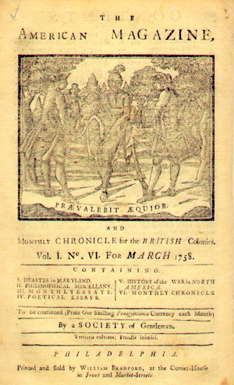 American Magazine and Monthly Chronicle for the British Colonies