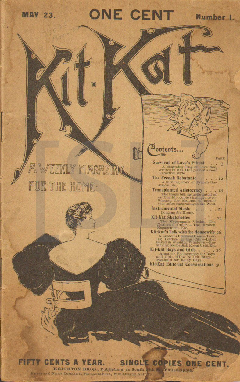 Kit Kat, a Weekly Magazine for the Home