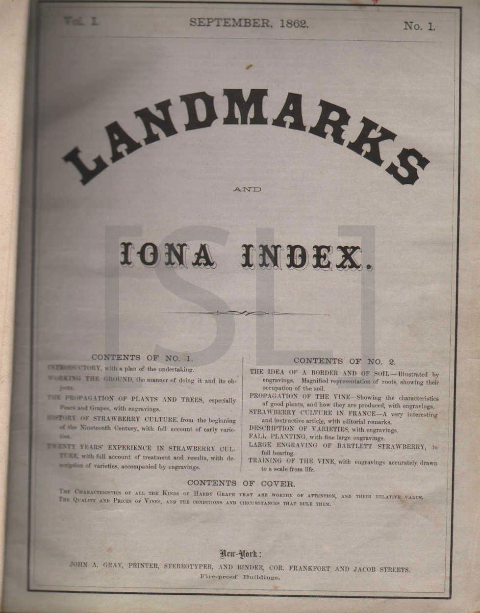 Landmarks and Iona Index