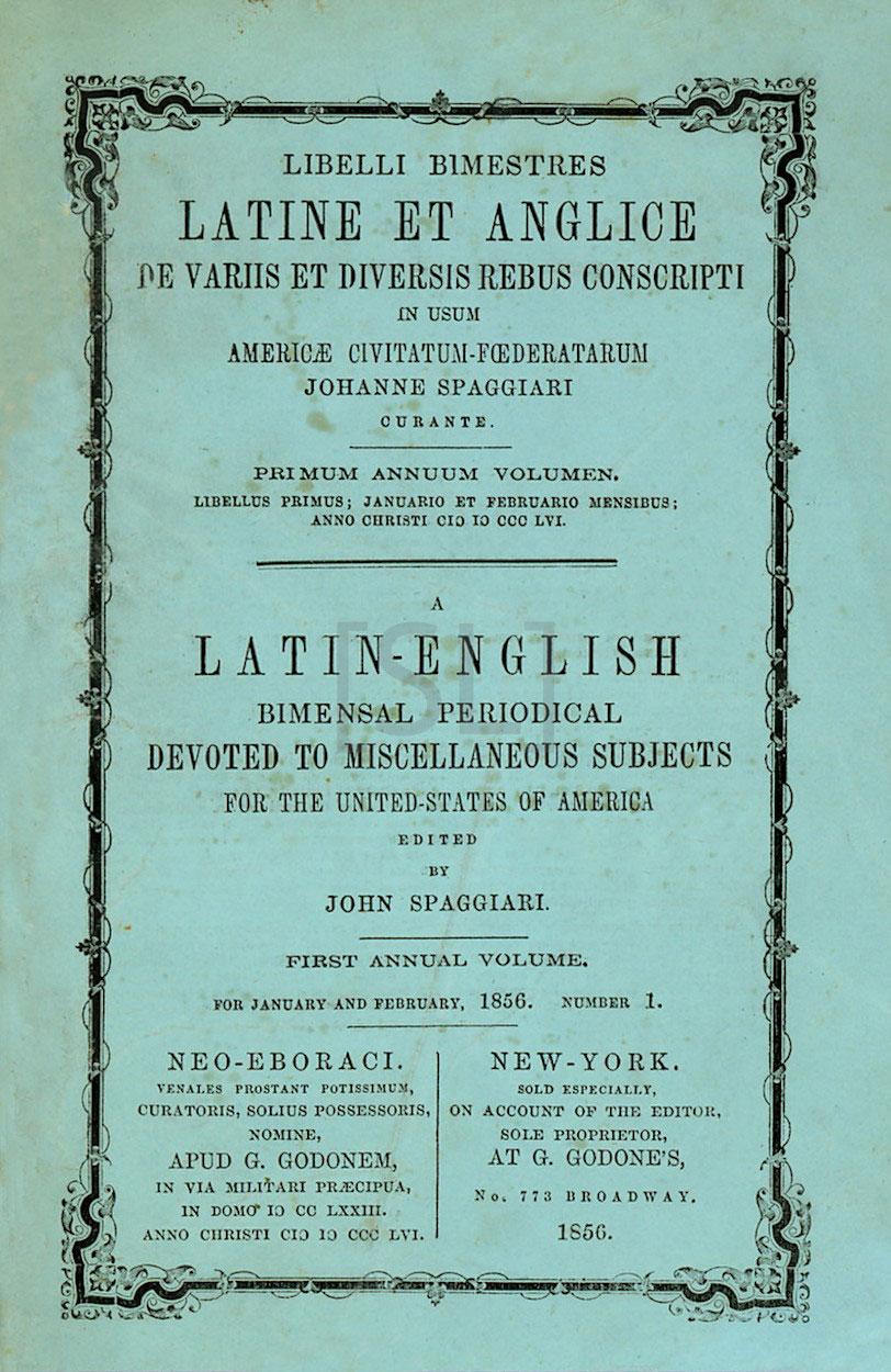 Latin-English Bimensal Periodical