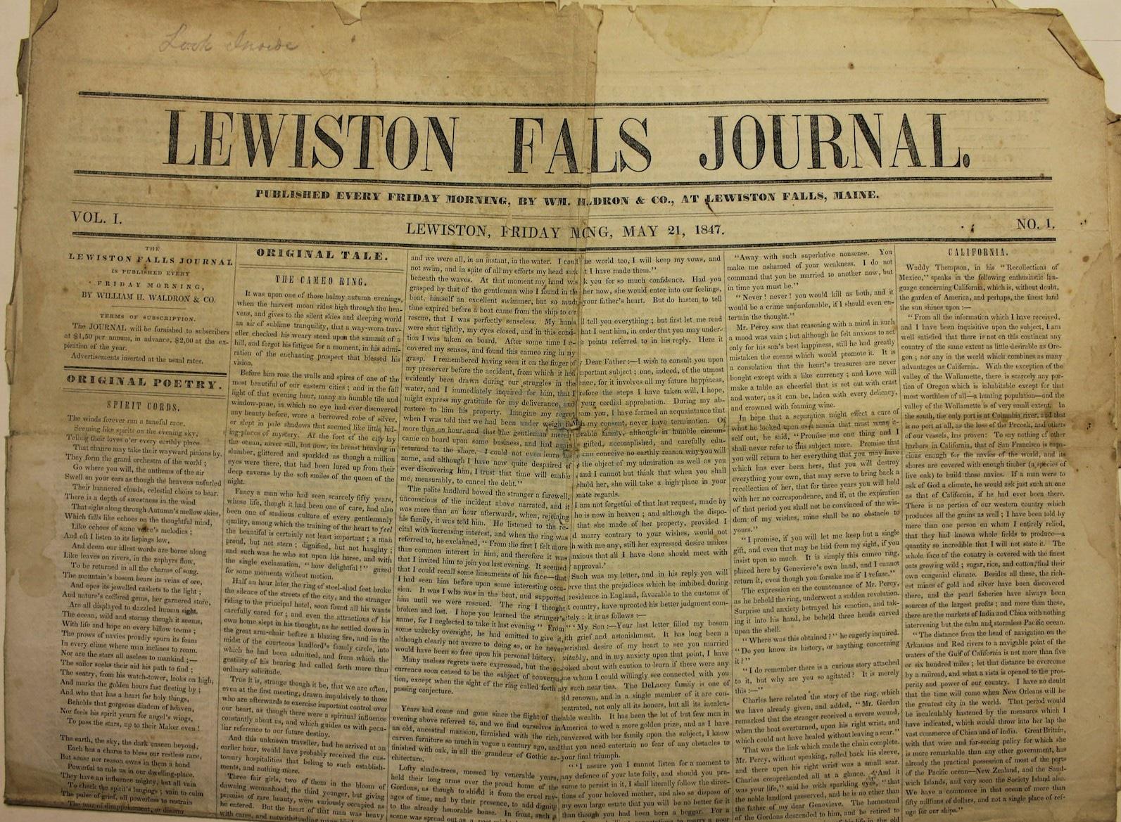 Lewiston Falls Journal