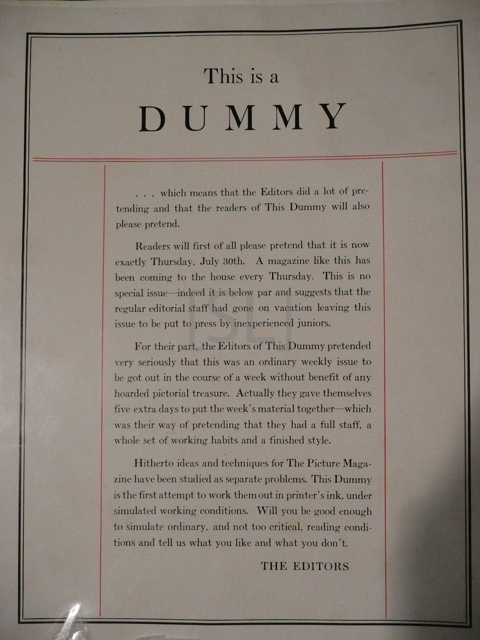 """Life (Pictorial) """"Dummy"""""""