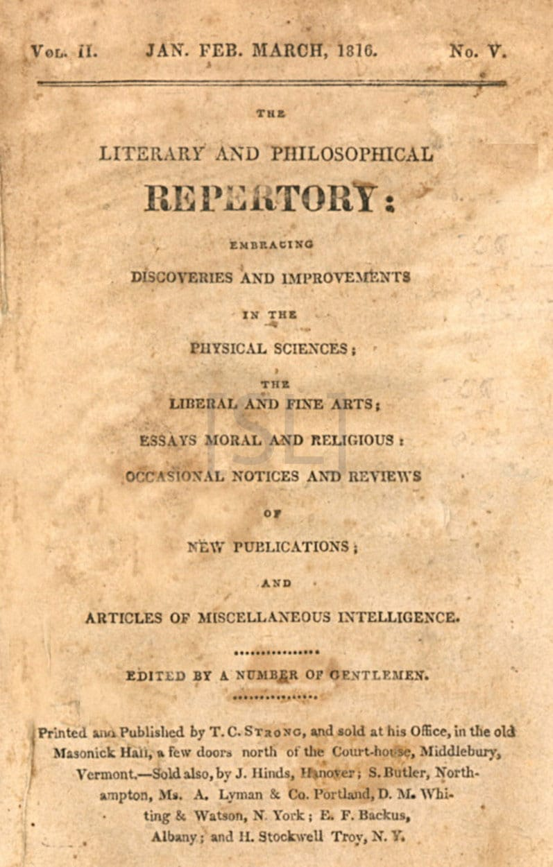 Literary and Philosophical Repertory
