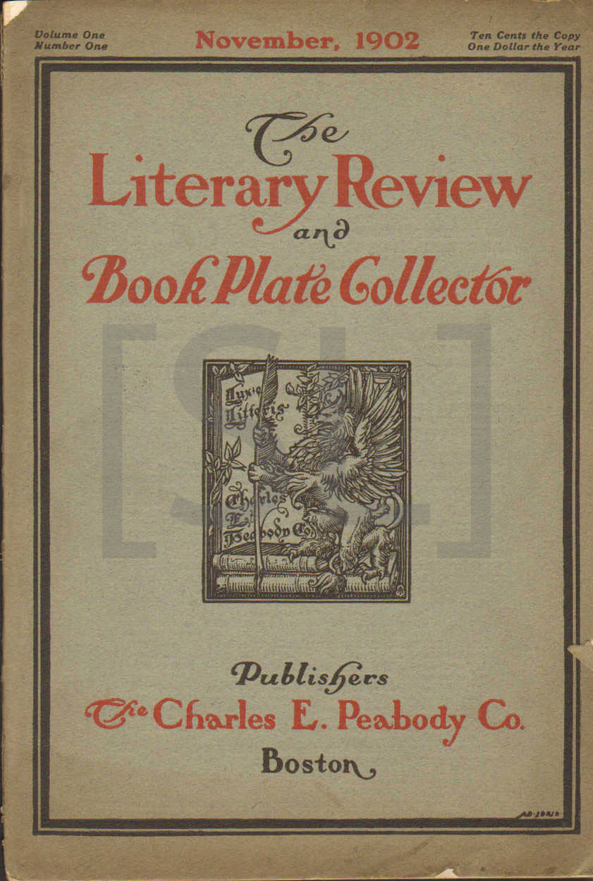 Literary Review and Book Plate Collection