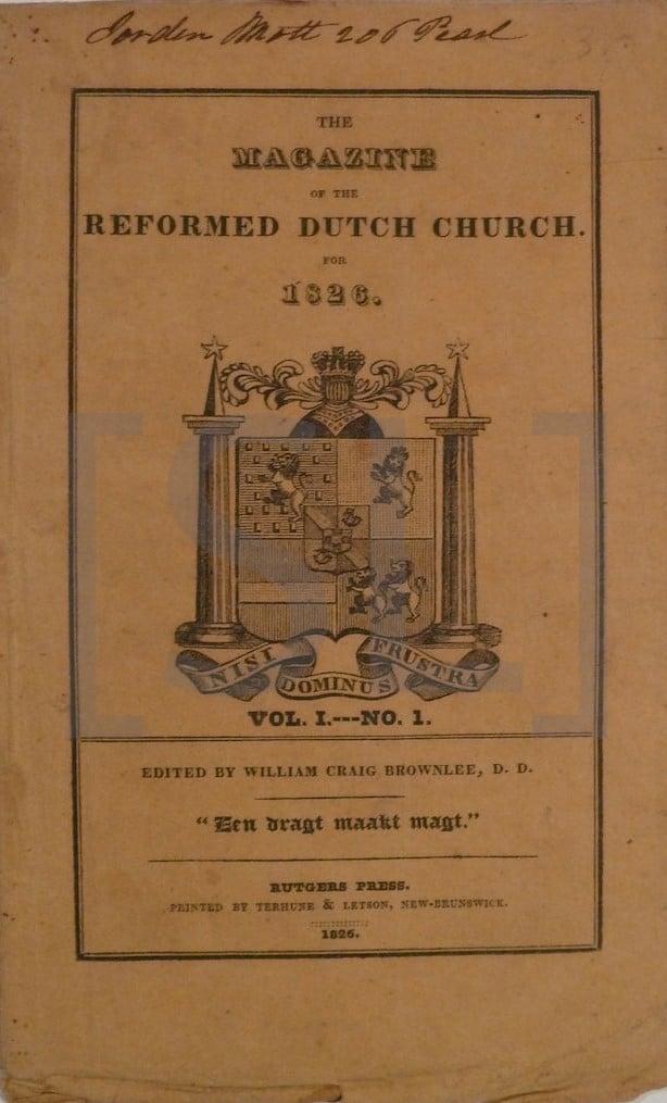 Magazine of the Reformed Dutch Church