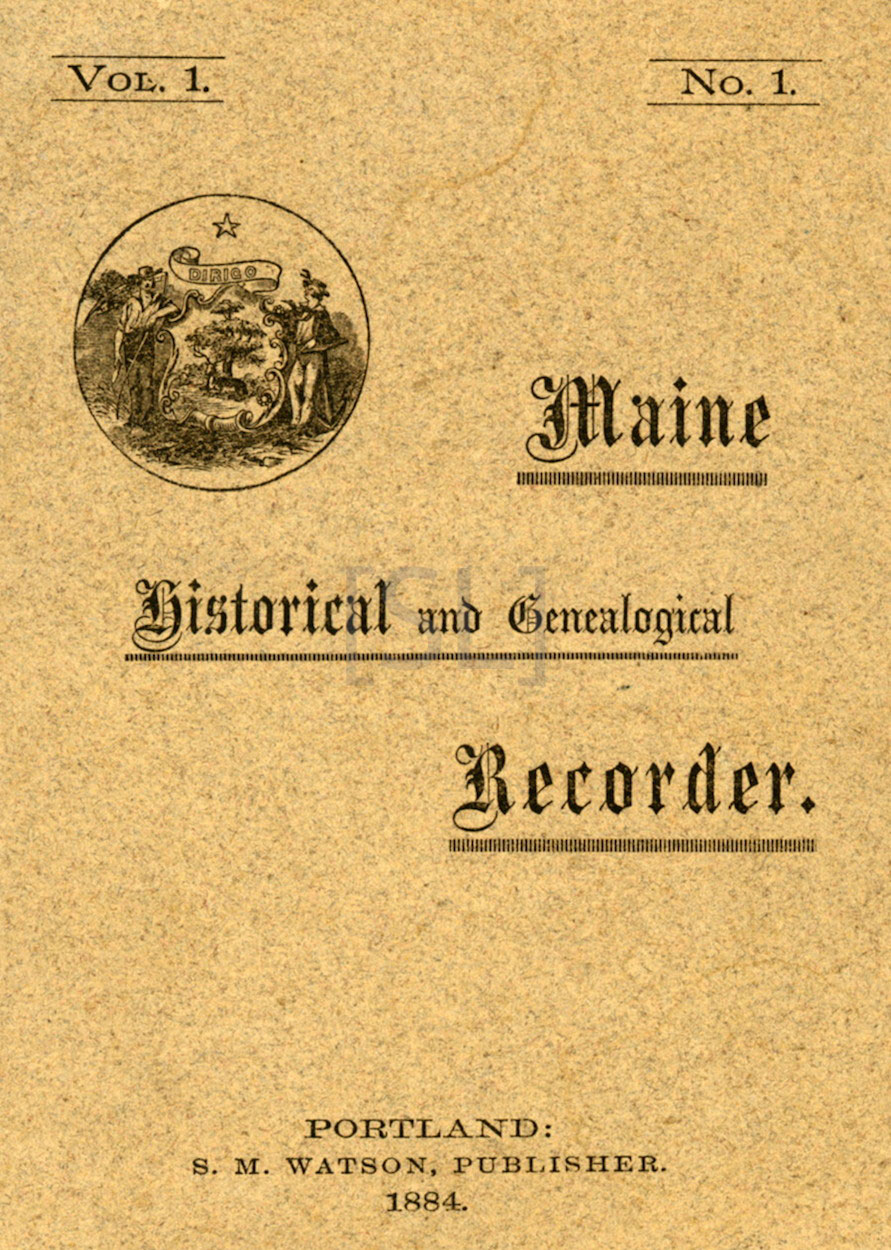 Maine Historical and Genealogical Recorder