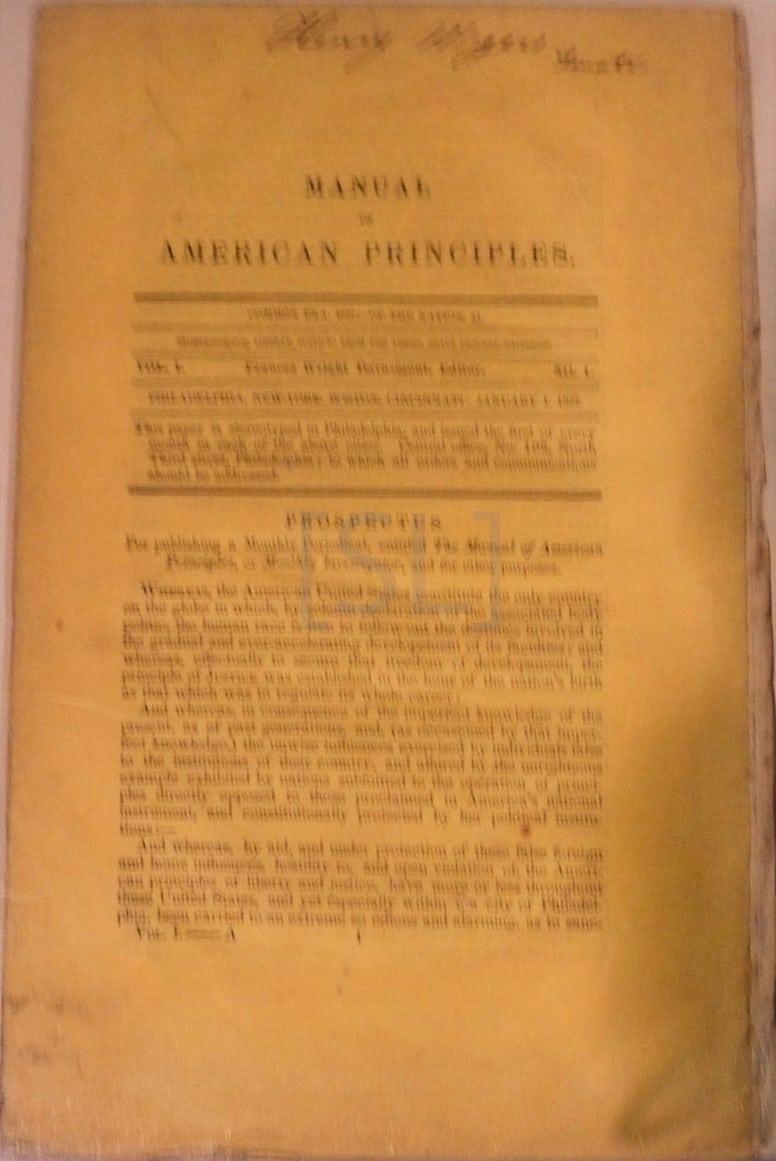 Manual of American Principles