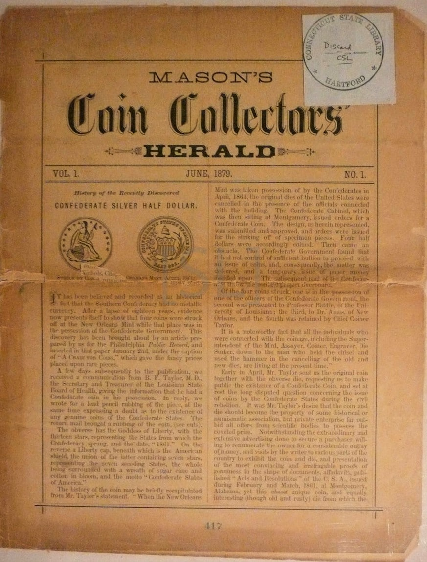 Mason's Coin Collectors' Herald