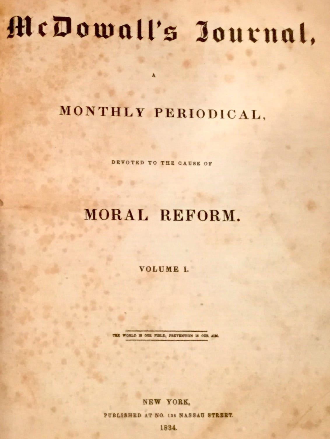 McDowall's Journal