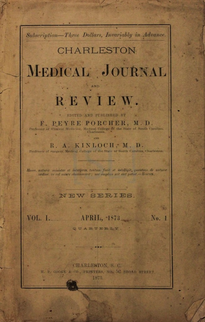 Charleston Medical Journal and Review