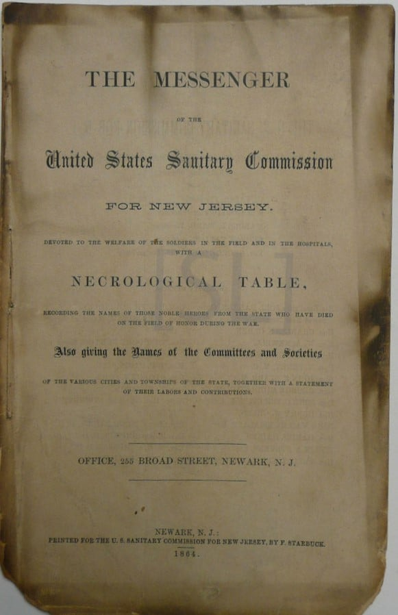 Messenger of the United States Sanitary Commission for New Jersey