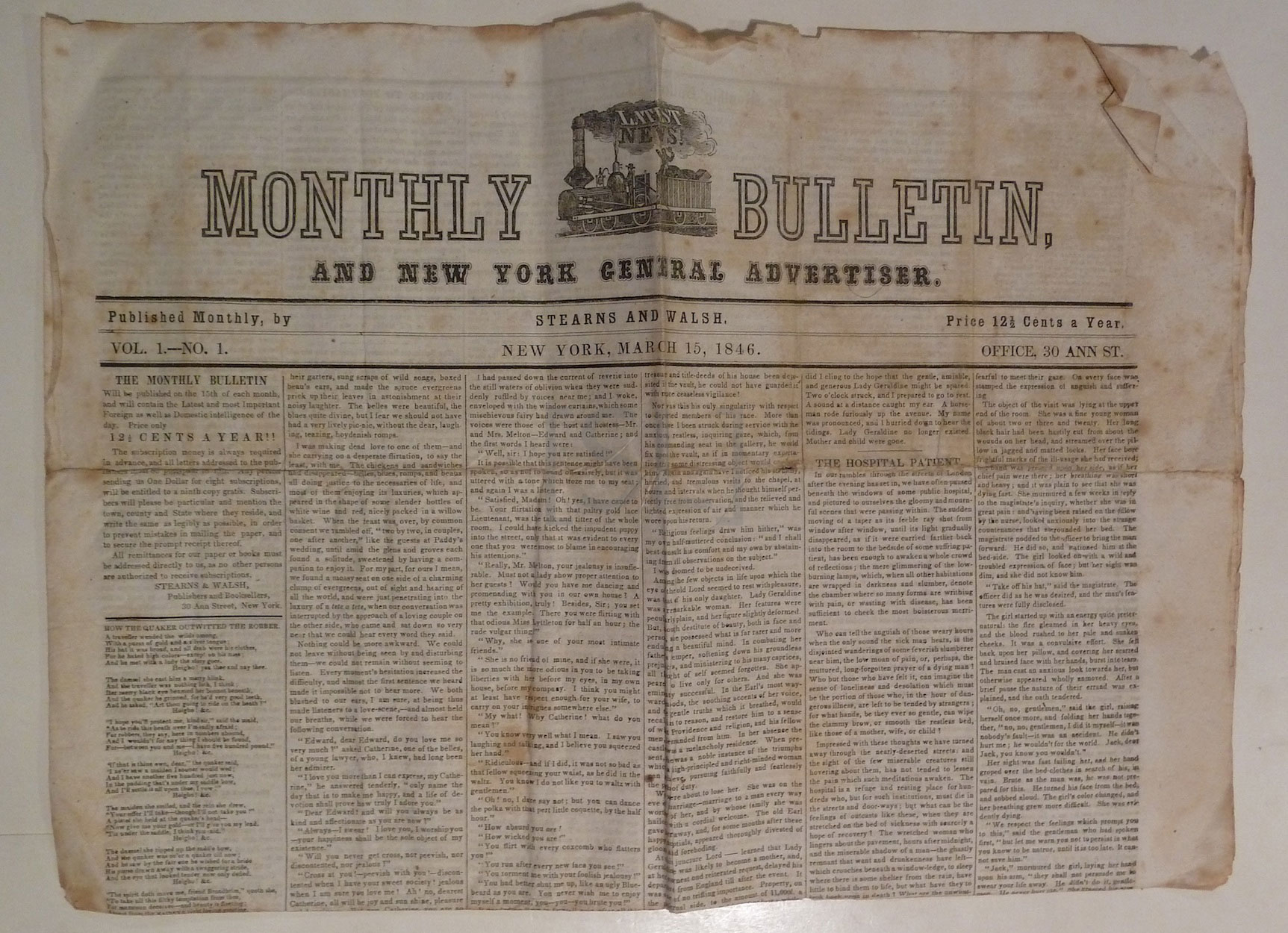 Monthly Bulletin and New York General Advertiser