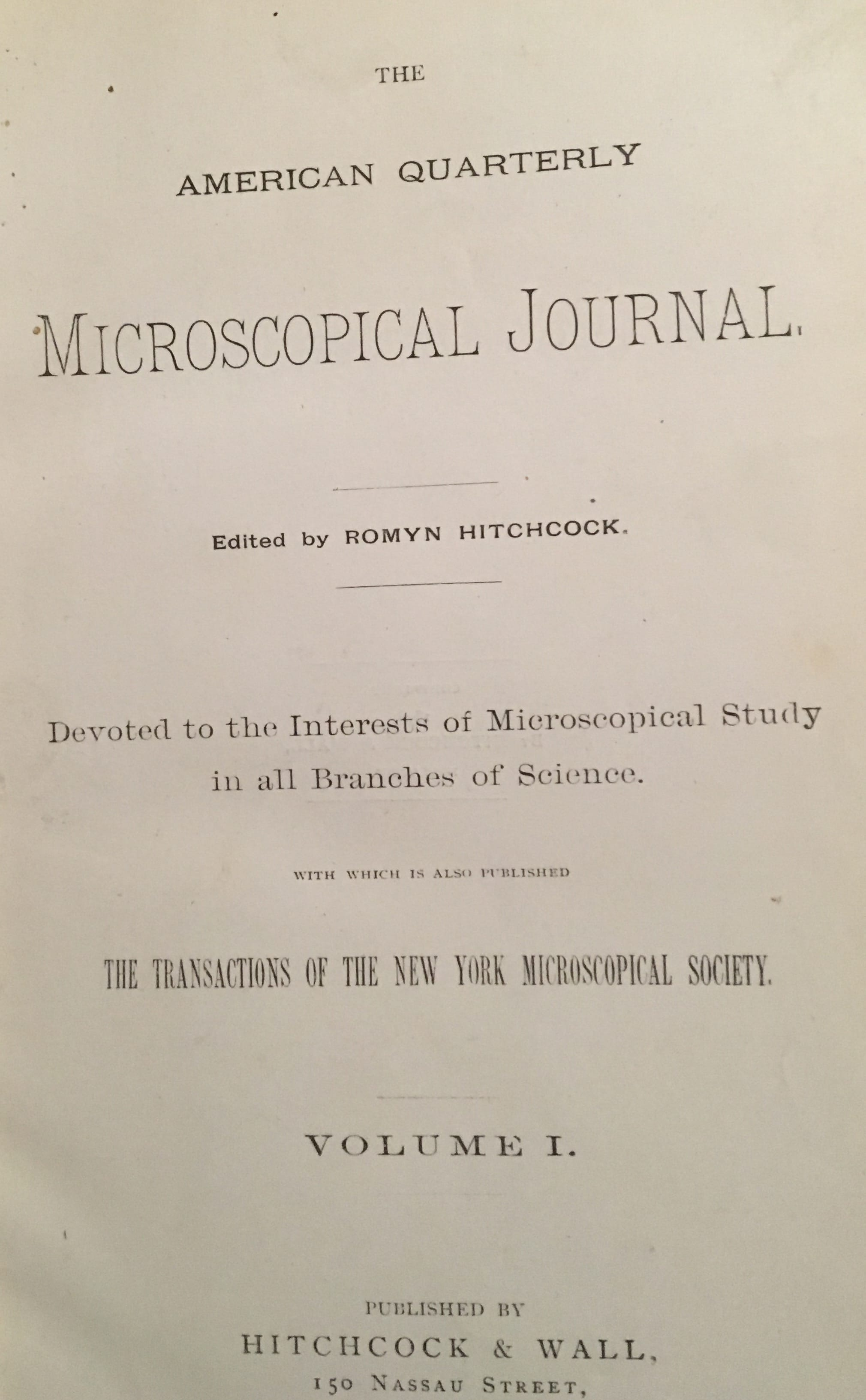 American Quarterly Microscopic Journal