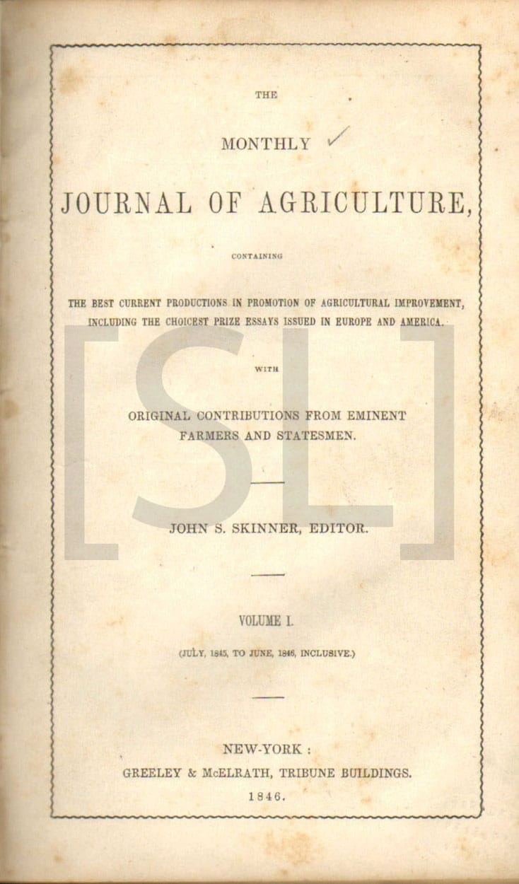 Monthly Journal of Agriculture