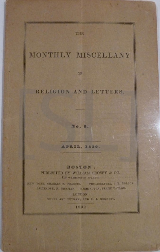 Monthly Miscellany of Religion and Letters