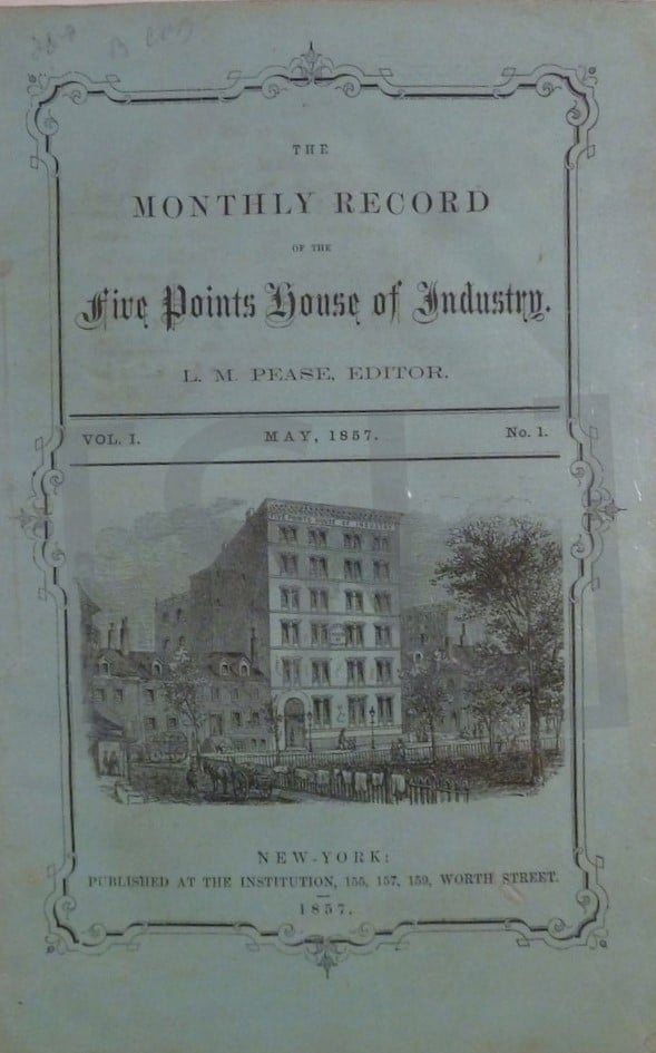 Monthly Records of the Five Points House of Industry
