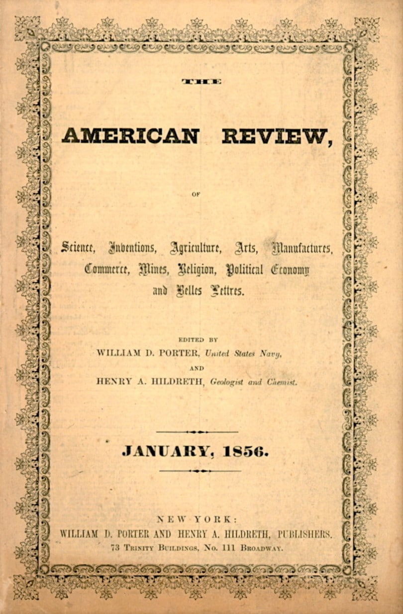American Review, Of Science, Inventions, Agriculture, Arts, Manufacturing, Commerce, Mines, Religion, Political Economy, & Belles Lettres