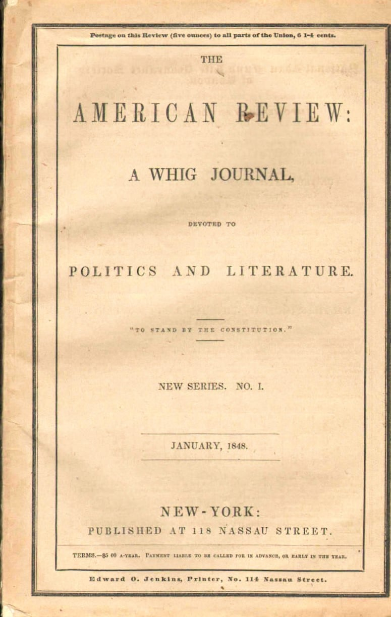 American Review: A Whig Journal Devoted to Politics and Literature