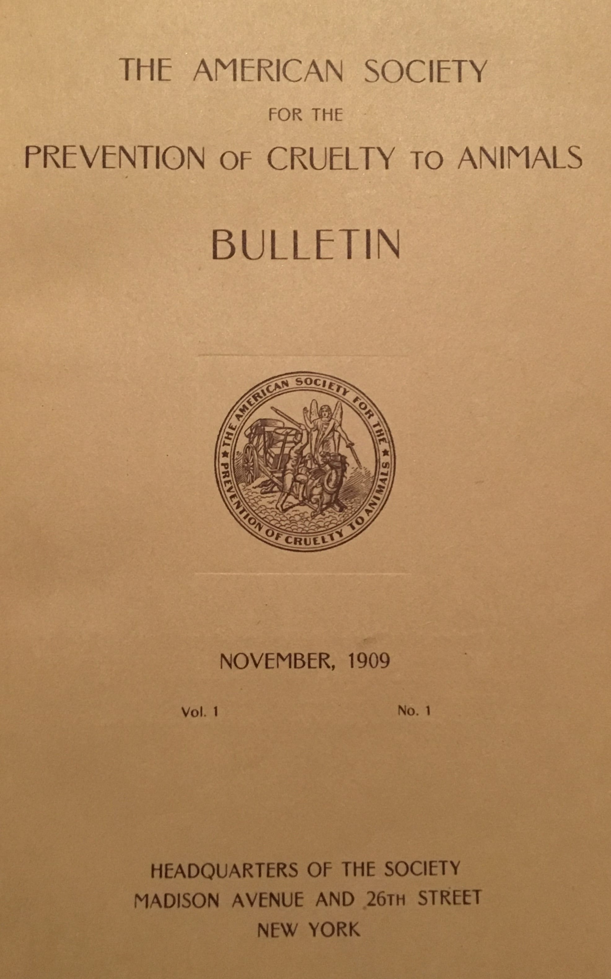 American Society for the Prevention of Cruelty to Animals Bulletin