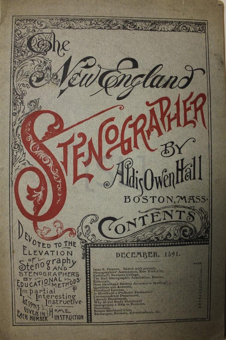 New England Stenographer
