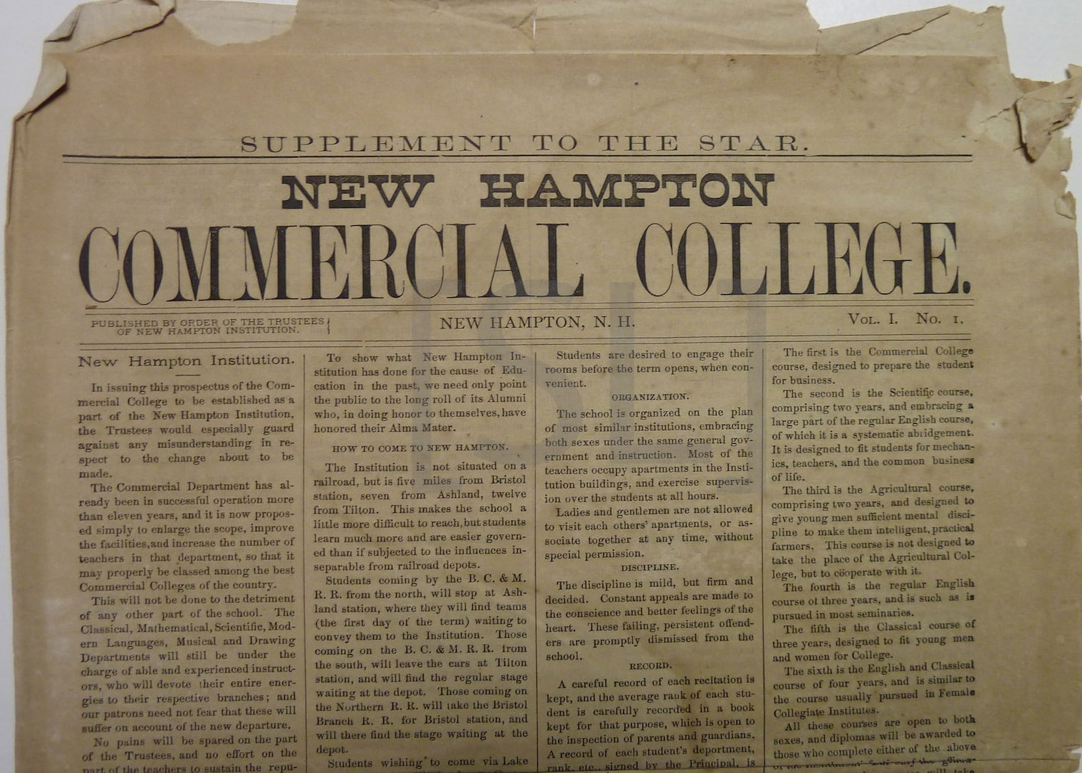 New Hampton Commercial College