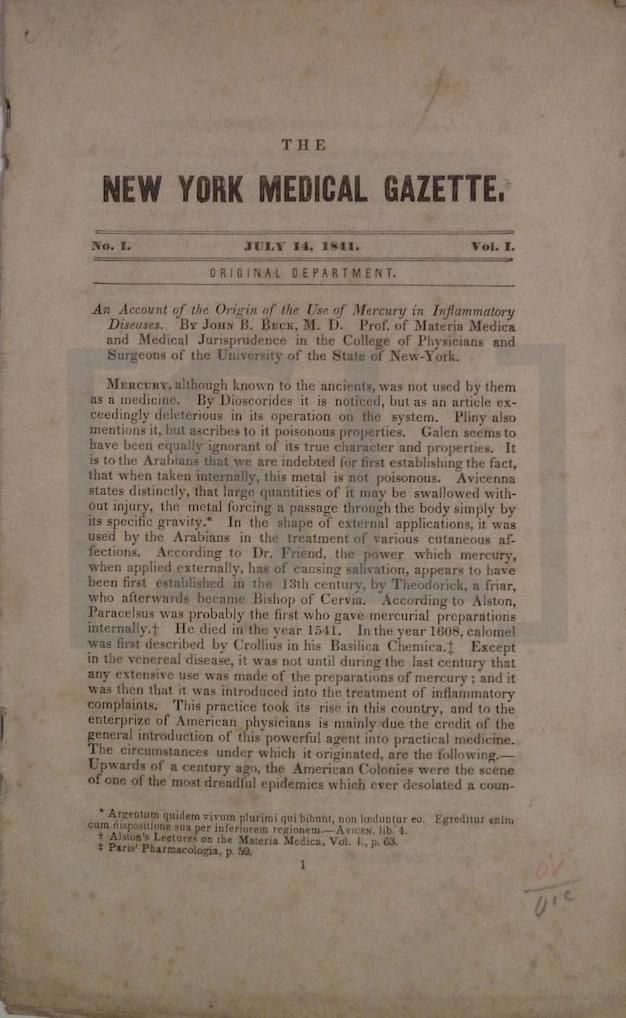New York Medical Gazette