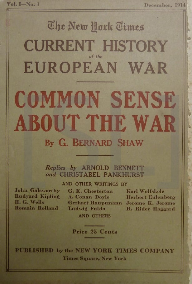 New York Times Current History of the European War