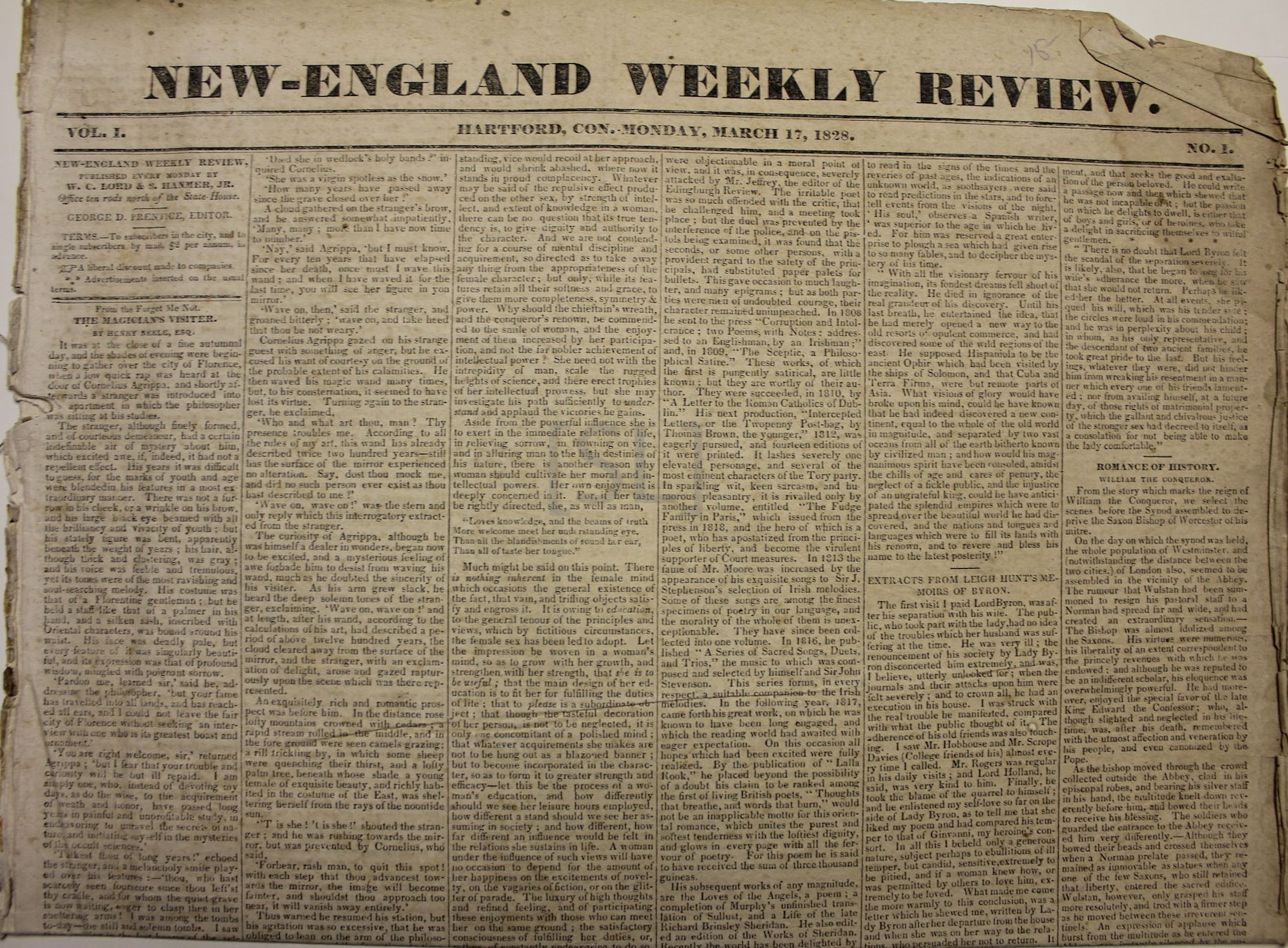 New-England Weekly Review