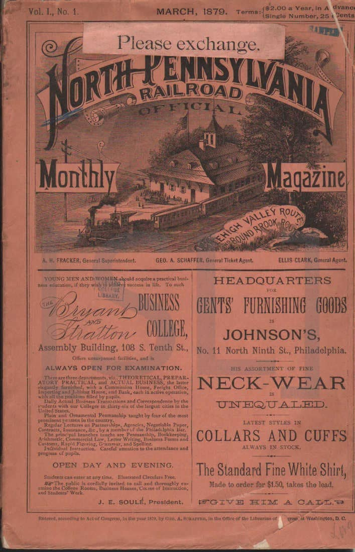 North Pennsylvania Railroad Monthly