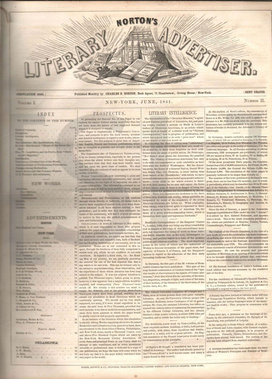 Norton's Literary Advertiser