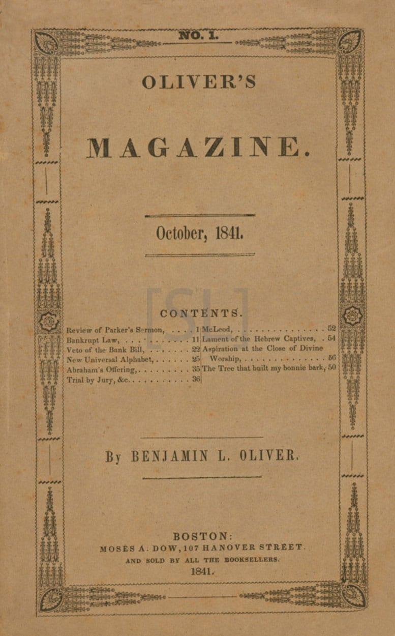 Oliver's Magazine