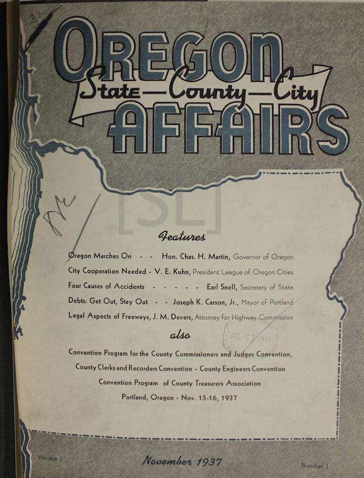 Oregon Affairs