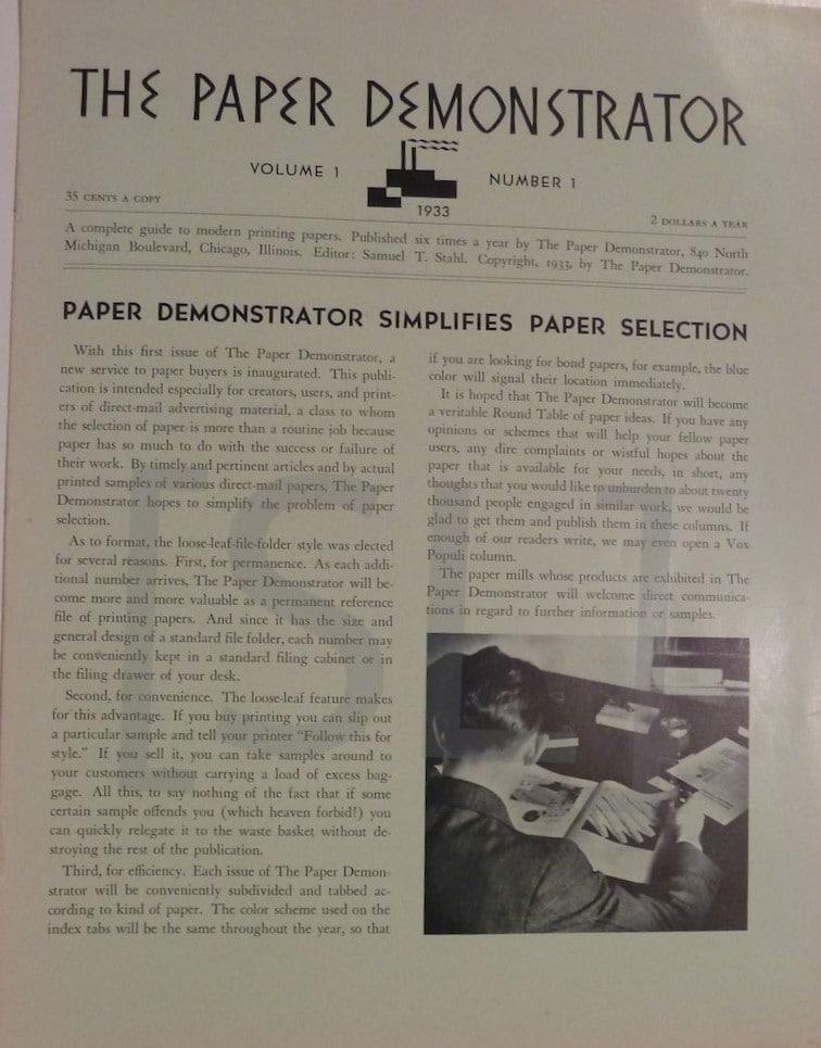 Paper Demonstrator