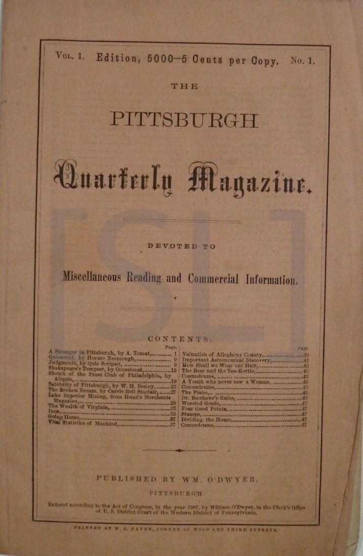 Pittsburgh Quarterly Monthly Magazine
