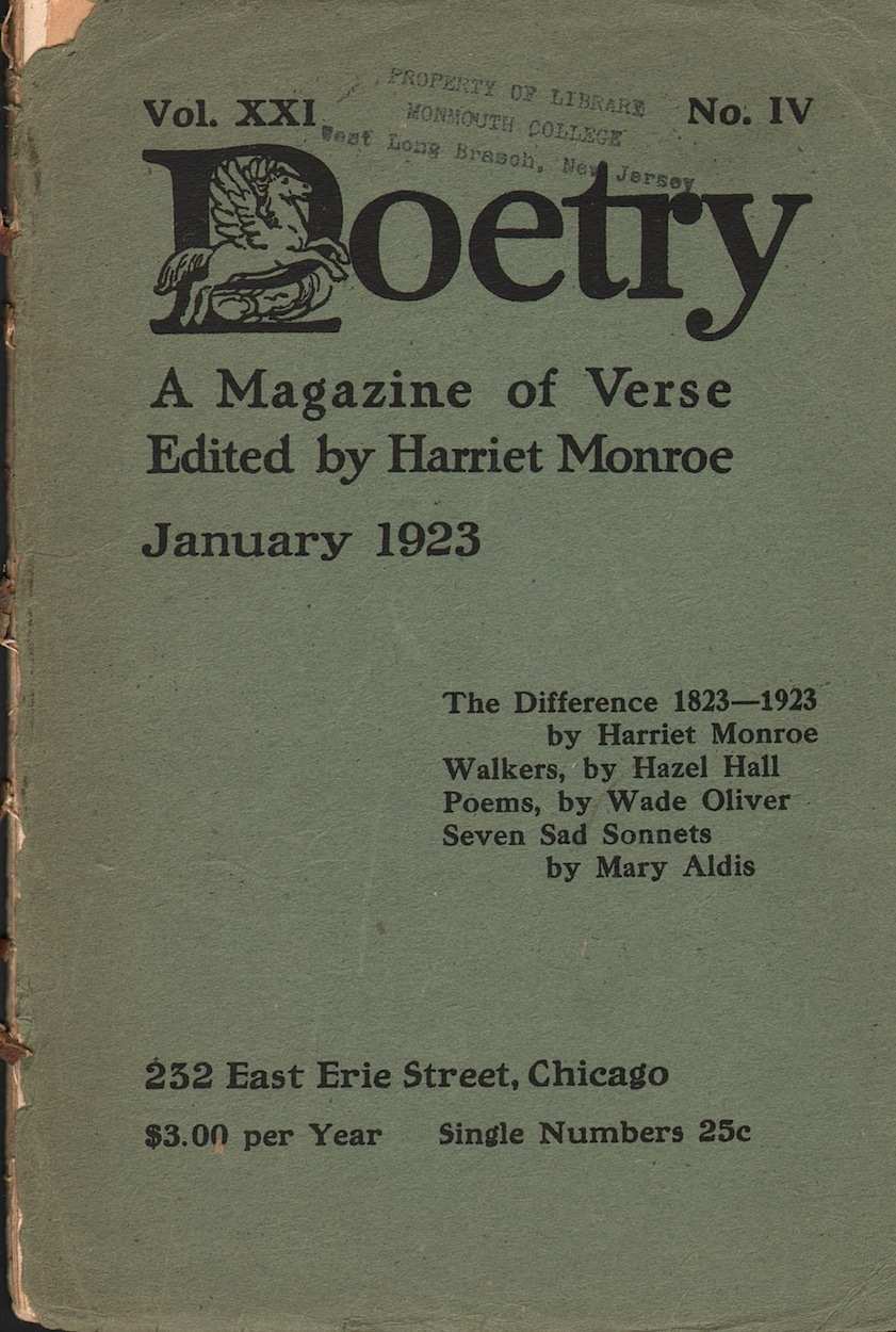 Poetry, A Magazine of Verse