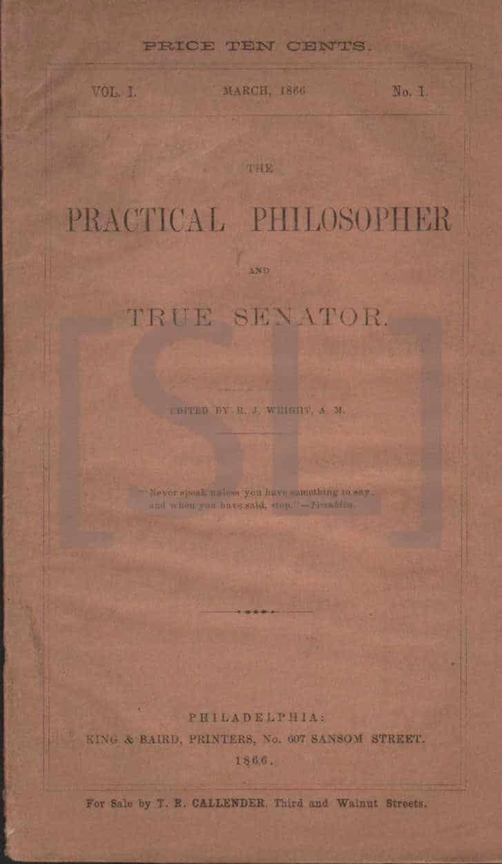 Practical Philosopher and True Senator