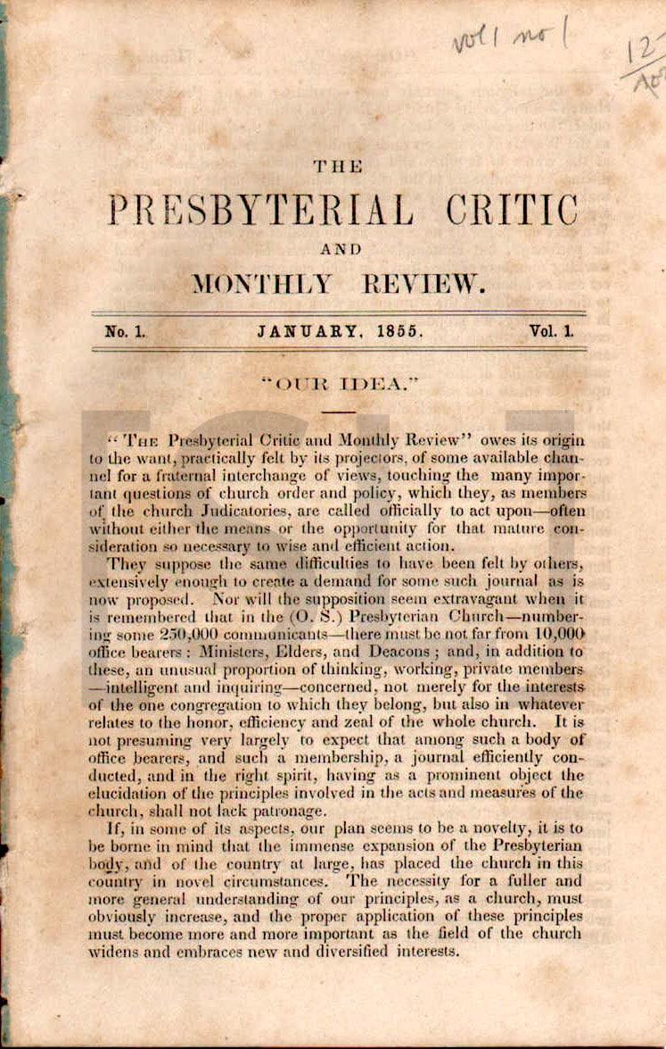 Presbyterial Critic