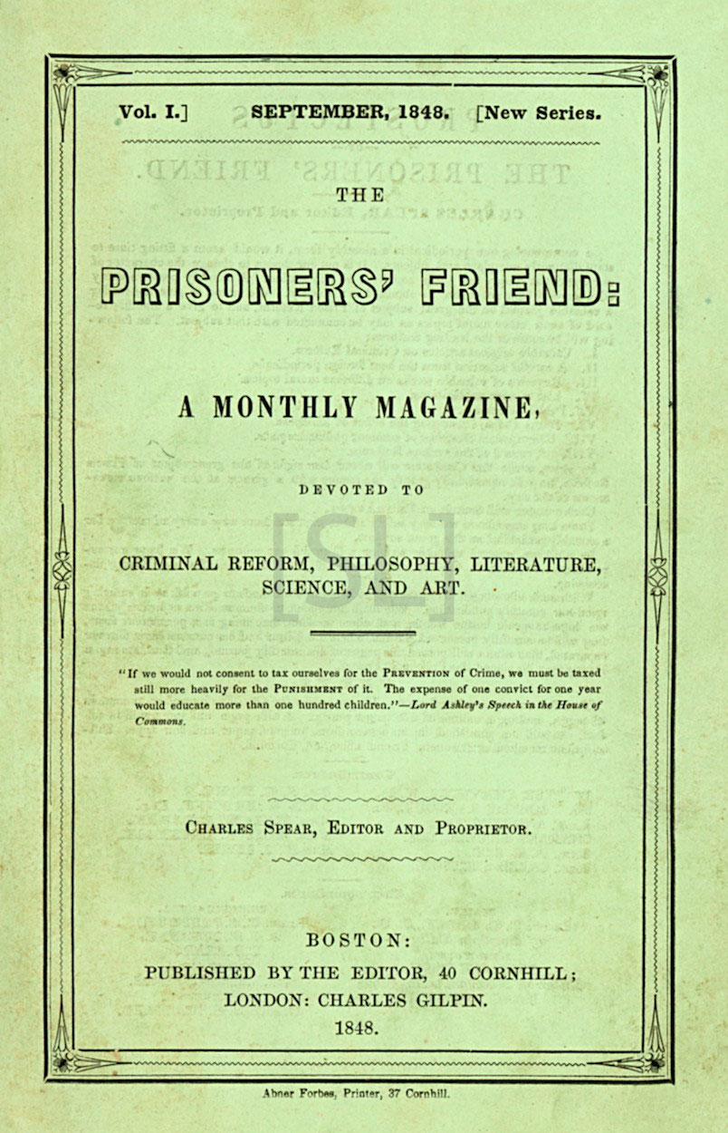 Prisoners' Friend; A Monthly Magazine