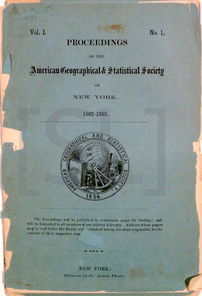Proceedings Of The American Geographical And Statistical Society
