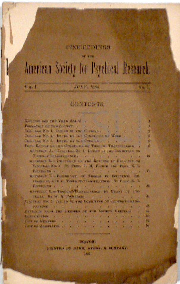 Proceedings of the American Society For Psychical Research