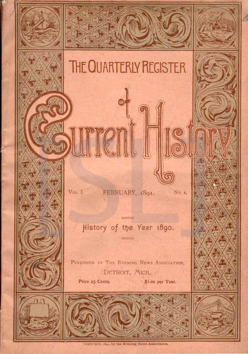 Quarterly Register of Current History