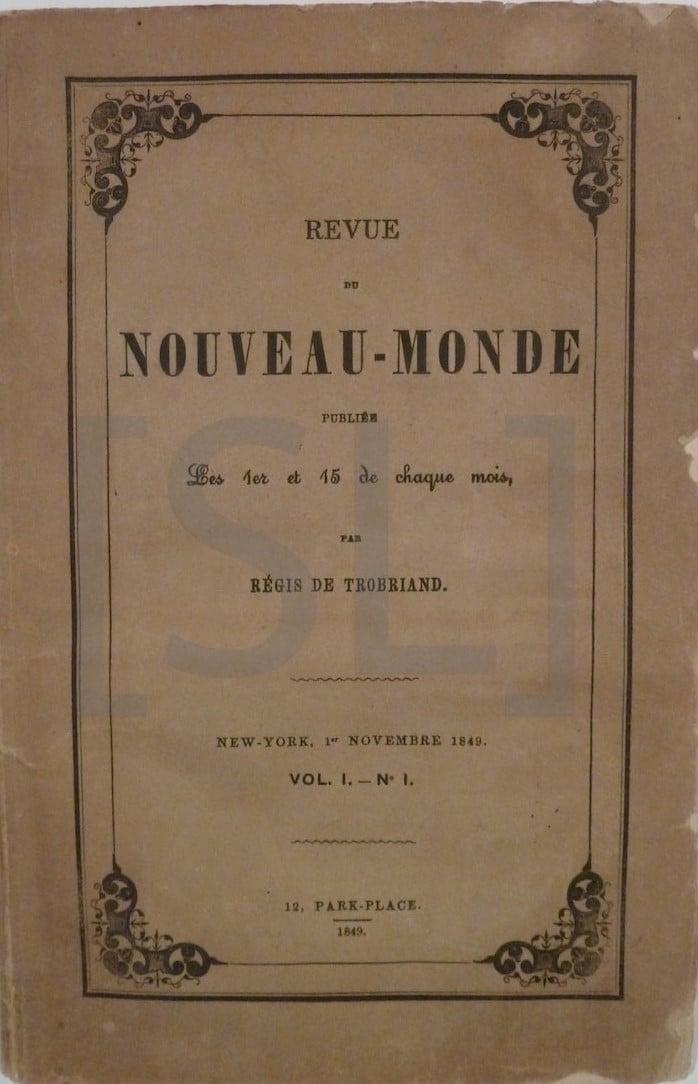 Revue du Nouveau-Monde Publies
