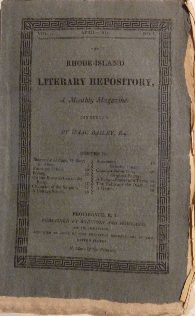 Rhode Island Literary Repository, a Monthly Magazine