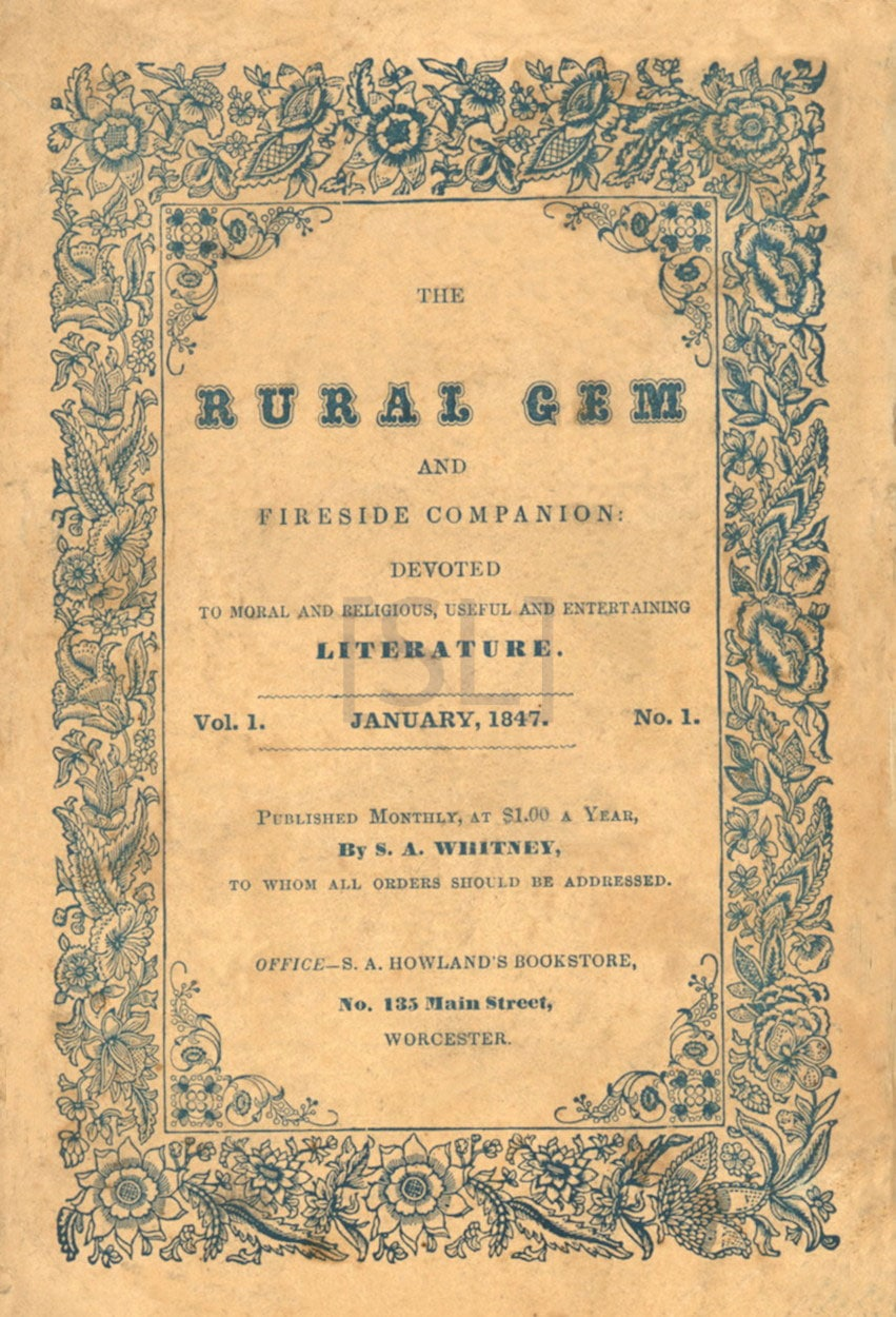 Rural Gem and Fireside Companion: Devoted to Moral and Religious, Useful and Entertaining Literature